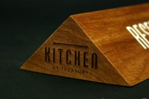 Laser-etched-Reserved-Sign-Kitchen-at-treasury-Potato-Press