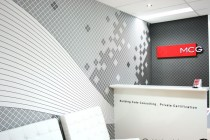 MCG-Fit-Out-Custom-Textured-Wallpaper-and-Laser-Cut-Signage