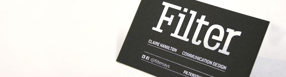Filter card