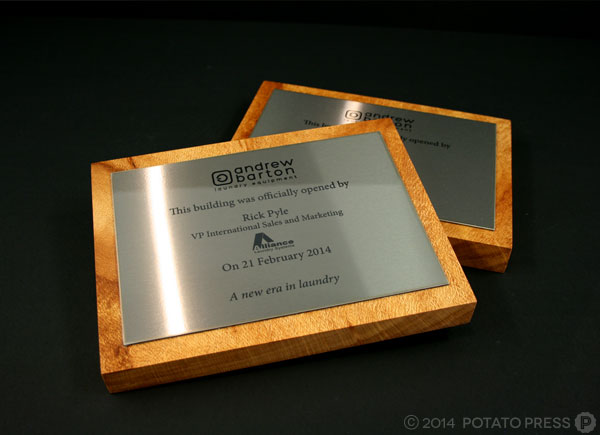 Andrew-Barton-plaques-stacked-wood-stainless-steel-steel-custom-plaque-potato-press-australia-laser-cut-gold-coast-laser-etching-custom-production