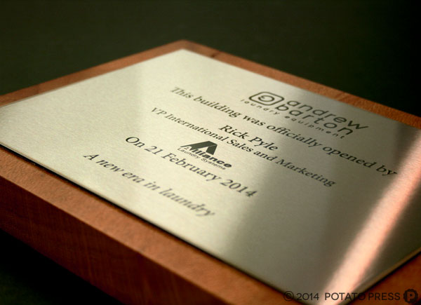 Andrew-Barton-steel-plaque-wood-soft-focus-wood-stainless-steel-steel-custom-plaque-potato-press-australia-laser-cut-gold-coast-laser-etching-custom-production