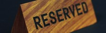 LT Hospitality - Timber Reserved Plaques